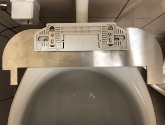 TOM rvs montageplaat voor CareBidet+ spoel/föhn